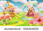 sweet candy land. cartoon game... | Shutterstock .eps vector #536564020