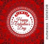happy valentines day. vector...   Shutterstock .eps vector #536565148