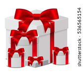 set 3d gift box template with a ... | Shutterstock .eps vector #536565154
