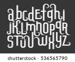vector alphabet set. lowercase... | Shutterstock .eps vector #536565790