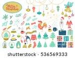 big christmas set. vector...   Shutterstock .eps vector #536569333