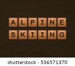 "cubes with letters ""alpine... 