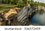 marble canyon ruskeala. karelia | Shutterstock . vector #536572459