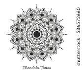 mandala decorative ornament... | Shutterstock .eps vector #536572660