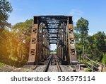 Old Steel Train Bridge Across...