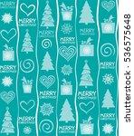 seamless christmas background.... | Shutterstock .eps vector #536575648