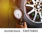 close up mechanic inflating... | Shutterstock . vector #536576803
