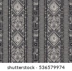 ethnic vertical ornament.... | Shutterstock .eps vector #536579974