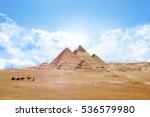 pyramids egypt giza all   with... | Shutterstock . vector #536579980