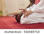 two religious muslim man... | Shutterstock . vector #536585710
