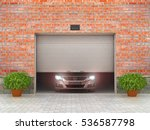 garage concept. garage doors...