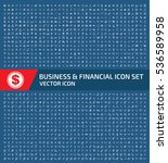 business and finance icon set... | Shutterstock .eps vector #536589958