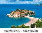 sveti stefan island in budva in ... | Shutterstock . vector #536593738