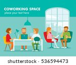 creative people working in co... | Shutterstock .eps vector #536594473