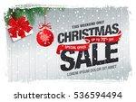 christmas sale banner | Shutterstock .eps vector #536594494