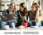 friends using digital tablet... | Shutterstock . vector #536596423