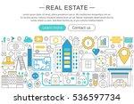 vector modern line flat design... | Shutterstock .eps vector #536597734