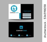 id card and business card | Shutterstock .eps vector #536598058
