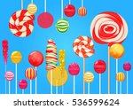 bright blue sugar background... | Shutterstock .eps vector #536599624