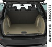 suv clean empty trunk isolated... | Shutterstock . vector #536600398