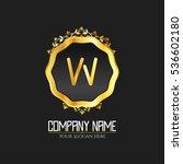 w letter logo  golden monogram... | Shutterstock .eps vector #536602180