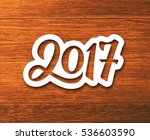 new year 2017 paper label with... | Shutterstock . vector #536603590