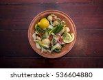 fresh mediterranean vegetables... | Shutterstock . vector #536604880
