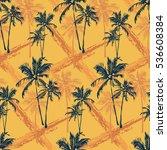 seamless vector tropical... | Shutterstock .eps vector #536608384