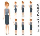 set of avatar business woman... | Shutterstock .eps vector #536609860