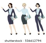 three business woman with...   Shutterstock .eps vector #536612794