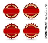 vintage red labels template set.... | Shutterstock .eps vector #536613370