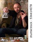 drug dealer offers to choose... | Shutterstock . vector #536614078