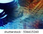 one hundred dollar bill.... | Shutterstock . vector #536615260