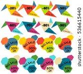 set of sale discount labels ... | Shutterstock . vector #536615440