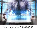 businessman using tablet pc and ...   Shutterstock . vector #536616538