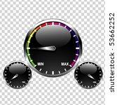 speedometer vector   Shutterstock .eps vector #53662252