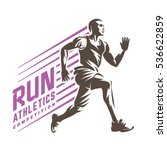 athletics. running man. sport... | Shutterstock .eps vector #536622859