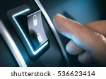 finger about to press a car... | Shutterstock . vector #536623414