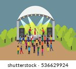 concert rock band in the park.... | Shutterstock .eps vector #536629924