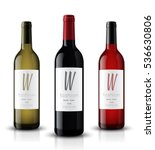vector  wine bottle  made in a... | Shutterstock .eps vector #536630806