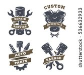 set of auto logos  garage ... | Shutterstock .eps vector #536632933