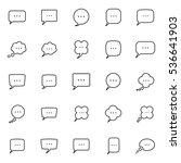 thin line speech  bubble ...   Shutterstock .eps vector #536641903