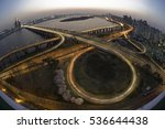 traffic of seoul city and the... | Shutterstock . vector #536644438