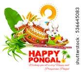 illustration of happy pongal... | Shutterstock .eps vector #536645083