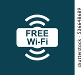 free wi fi point icon on blue... | Shutterstock .eps vector #536648689