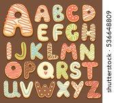 cookie alphabet | Shutterstock .eps vector #536648809