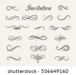 vintage elements and page... | Shutterstock . vector #536649160