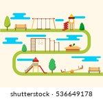 kids playground flat concept... | Shutterstock . vector #536649178