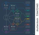 web template of a infochart ... | Shutterstock .eps vector #536652460