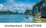 rocks landscape in kabui bay...   Shutterstock . vector #536657398